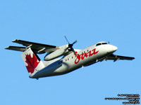 Air Canada Jazz - Bombardier Dash 8 Q100 - C-GANF  - FIN 802 (Transfered to Air Canada Express)