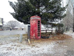 Old British payphone booth in Fredonia,AZ