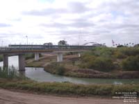 Pont Gateway International au-dessus du Rio Grande entre Brownsville, Texas, USA et Matamoros, Tamaulipas, Mexique