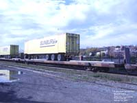 Sunbury trailer stacked on a NOKL flat car (on MMA)