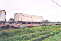 A Future Fastfreight FFFU container riding on the Canadian Pacific Railway Iron Highway / Expressway train