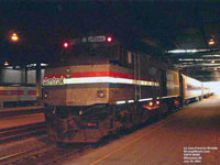 Chicago-based (Midwest pool) Amtrak *cabbage* baggage car / NPCU No. 90368 (ex-AMTK F40PH 368)
