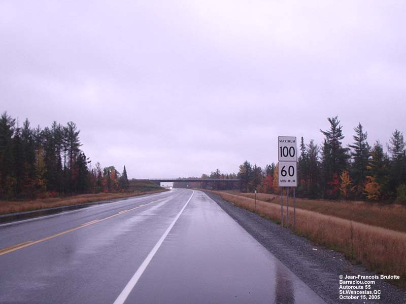 Construction of the Quebec Autoroute 55 extension - Highway